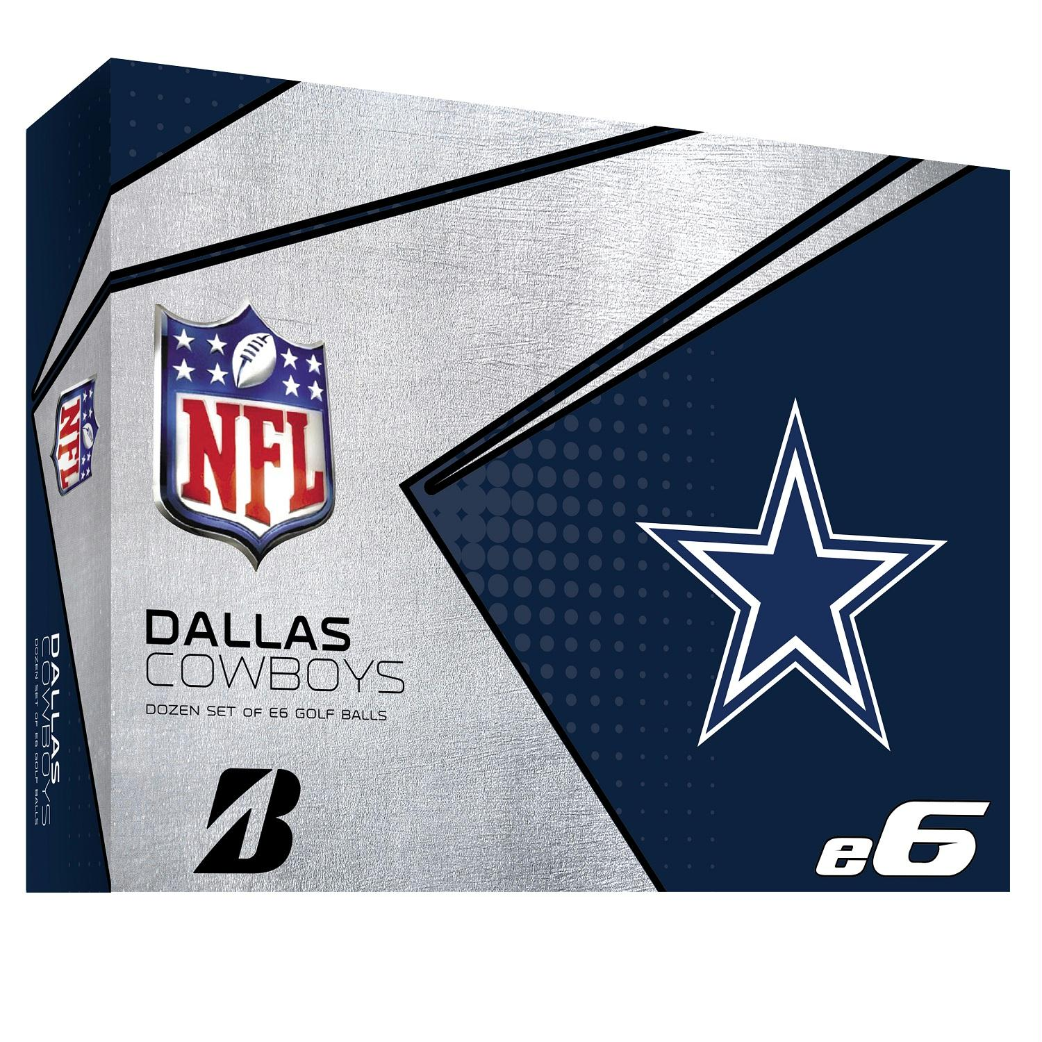 Bridgestone E6 Dallas Cowboys Golf Balls Dozen Universal