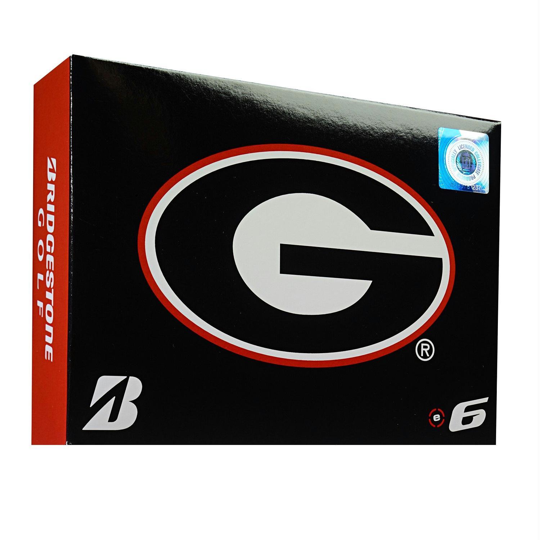 Bridgestone E6 Georgia Bulldogs Golf Balls Dozen